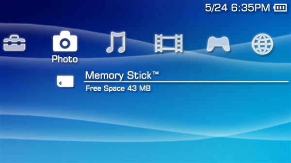 The PSP's XMB interface.